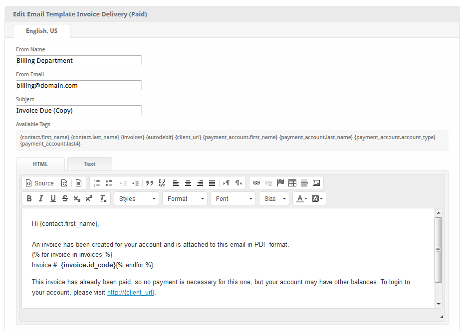 Invoice Delivery Paid User Manual Confluence