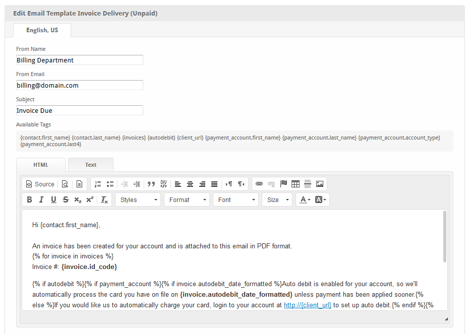 Invoice Delivery Unpaid User Manual Confluence